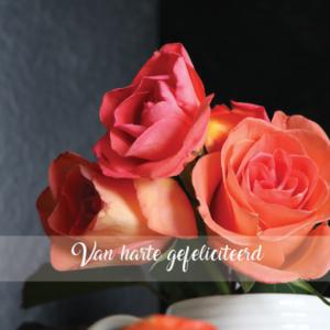 Wenskaart rozen